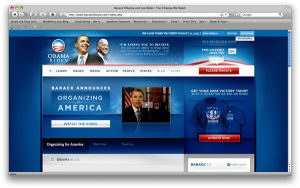 Obama's campaign website
