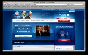 Obama's campaign website