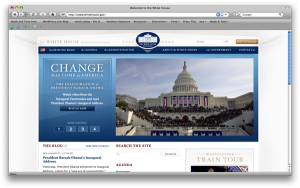 The new White House website