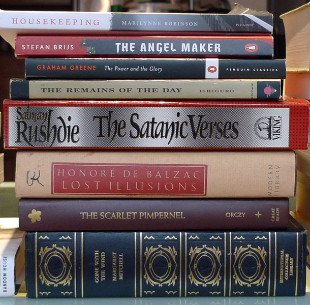 Robinson, Brijs, Greene, Ishiguro, Rushdie, Balzac, Orczy, & Mitchell