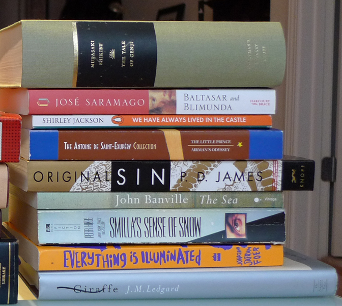 Murasaki, Saramago, Jackson, Saint-Exupéry, James, Banville, Køeg, Foer, & Ledgard