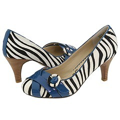 That's right - I'm going to walk down the aisle in zebra-striped shoes with blue buckles!