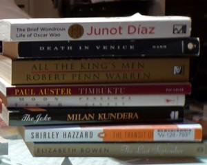 Diaz, Mann, Warren, Auster, Kundera, Hazzard, & Bowen