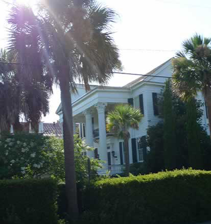 One of the many grand houses in the historic district