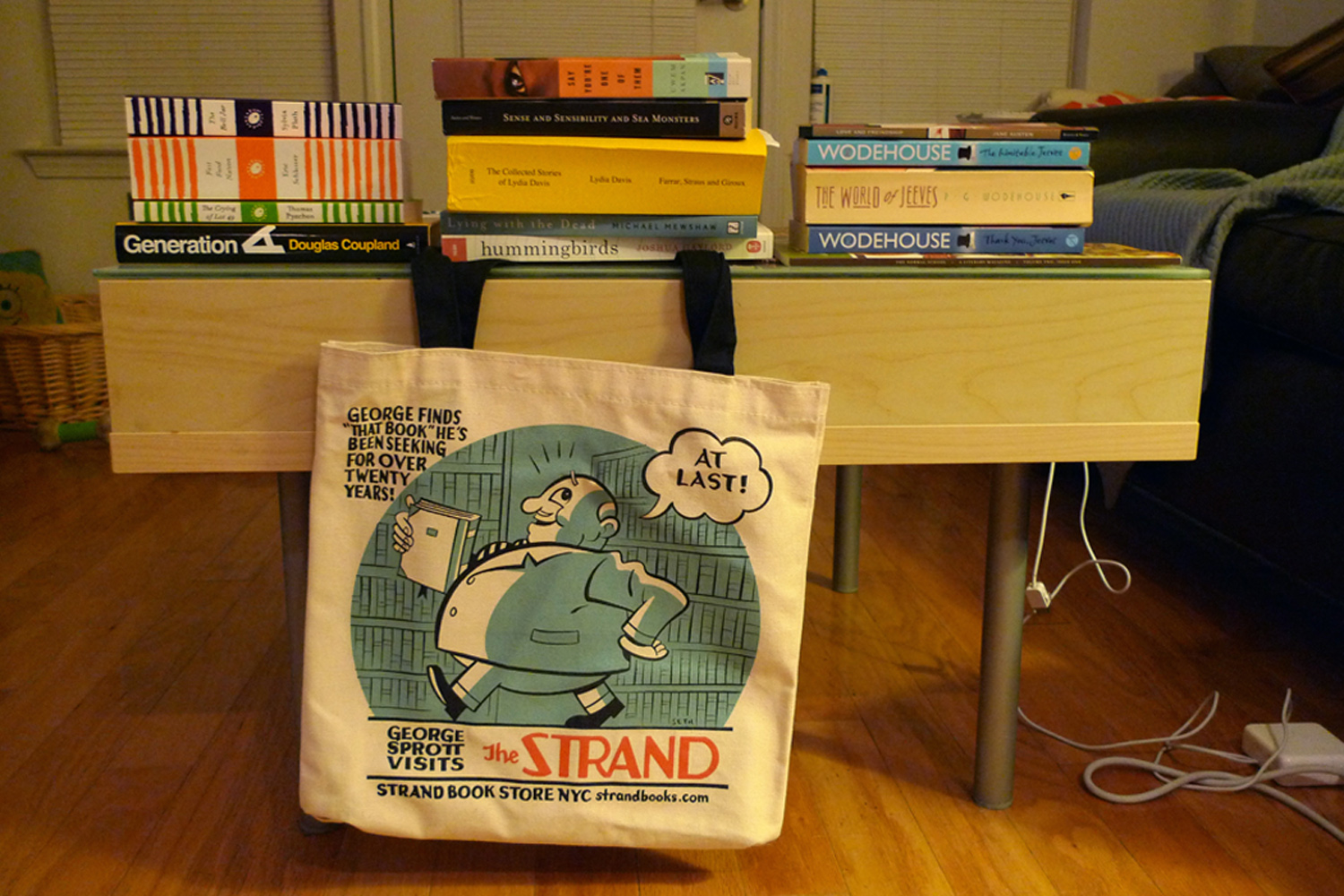 More books... but this time with a fancy new book bag to keep them company!