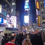 We stopped off in Times Square after we made it to our room.